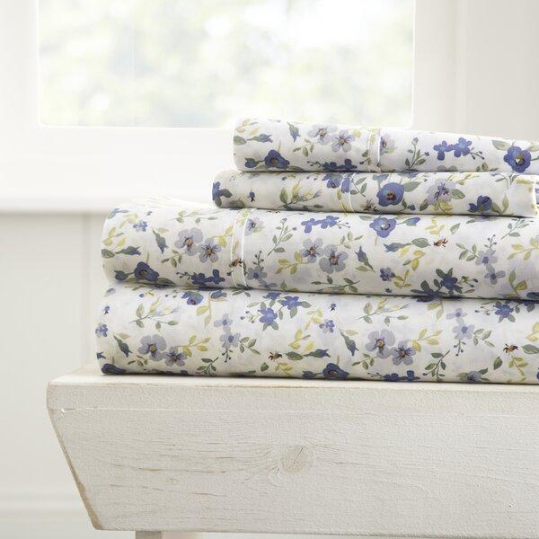 Perley Premium Ultra Soft Blossoms Pattern Sheet Set by Charlton Home