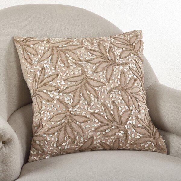 Embroidered Cotton Throw Pillow by Saro