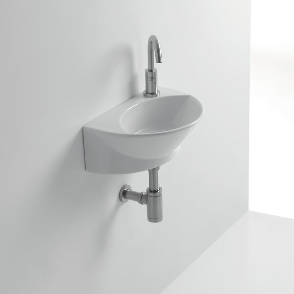 Whitestone Zepto Ceramic 17 Wall Mount Bathroom Sink with Overflow by WS Bath Collections