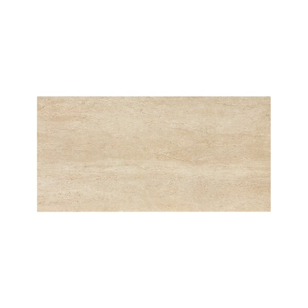 Travertini 12 x 24 Porcelain Field Tile in Polished Cream by Samson