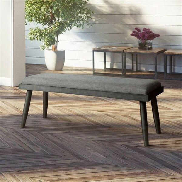 Straw Upholstered Bench by Brayden Studio