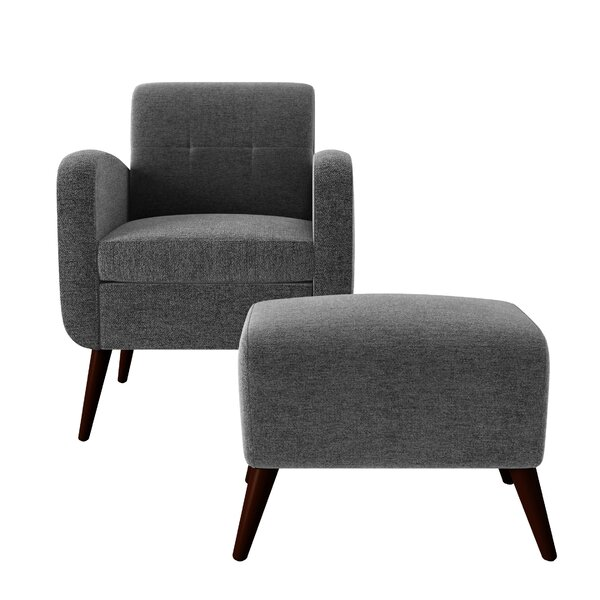 Joetta 20-inch Armchair and Ottoman by George Oliver George Oliver