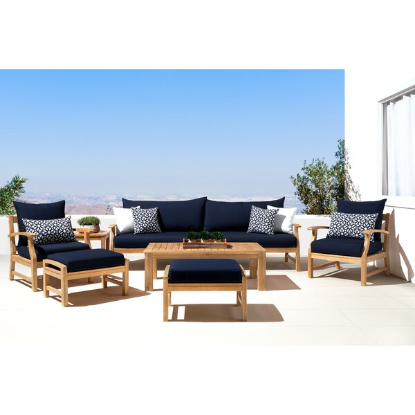 Mcclellan 8 Piece Sunbrella Sofa Seating Group with Cushions by Rosecliff Heights