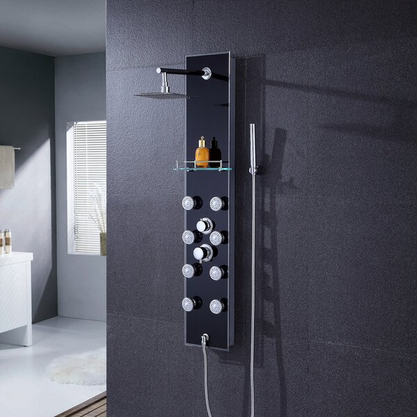 Pressure Balanced Rain Shower Head Shower Panel by Luxier