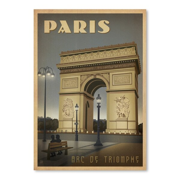 Paris ARC Vintage Advertisement by East Urban Home
