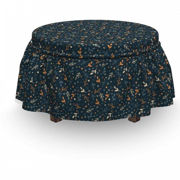 Leaves Autumn 2 Piece Box Cushion Ottoman Slipcover Set By East Urban Home