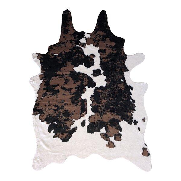 Mcintyre Faux Cowhide Brown/Black Area Rug by Union Rustic