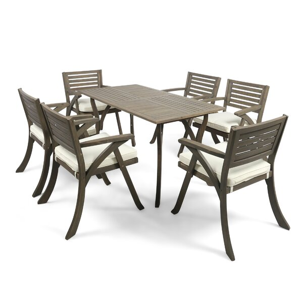 Outdoor 7 Piece Dining Set by George Oliver