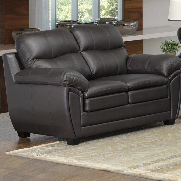 Best Bargain Coyle Leather Loveseat by Orren Ellis by Orren Ellis