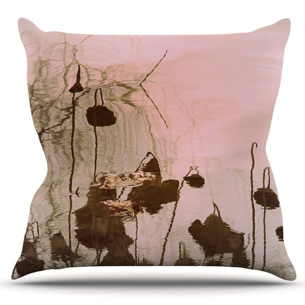 Lotus Dream by Marianna Tankelevich Outdoor Throw Pillow by East Urban Home