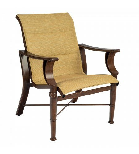 Arkadia Padded Patio Dining Chair (Set of 2) by Woodard