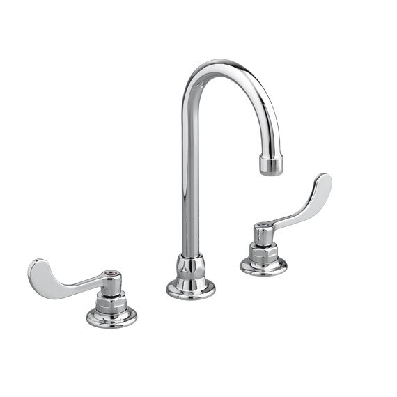 Monterrey Widespread Bathroom Faucet with Gooseneck Grid Drain by American Standard