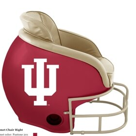 NCAA Licensed Football Helmet Chair by Butt'N Head
