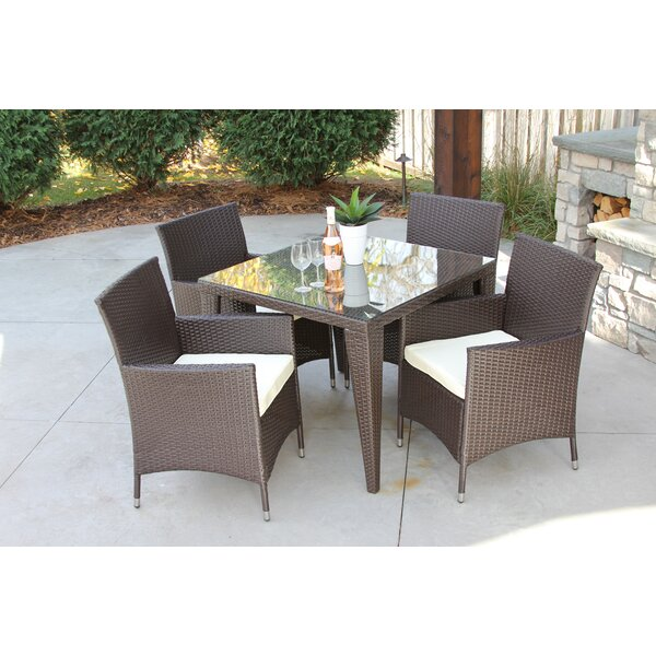 Donofrio 5 Piece Dining Set with Cushions by Brayden Studio