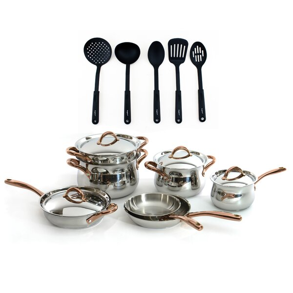 Ouro 16 Piece Stainless Steel Cookware Set by BergHOFF International