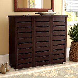 20-Pair Slatted Shoe Storage Cabinet