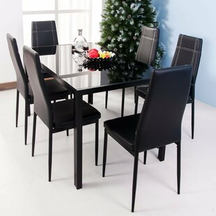 Modern contemporary dining room sets allmodern maynard 7 piece dining set workwithnaturefo