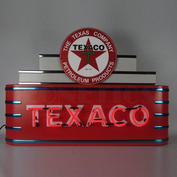 Art Deco Marquee Texaco Neon Sign by Neonetics
