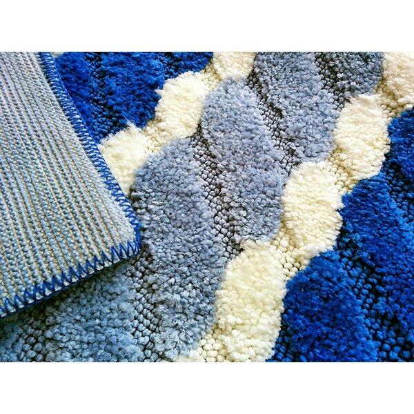 Summer Boardwalk Blue/Grey Indoor/Outdoor Area Rug by Tache Home Fashion