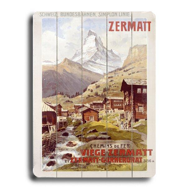 Swiss Alps Zermatt Matterhorn Vintage Advertisement by Loon Peak