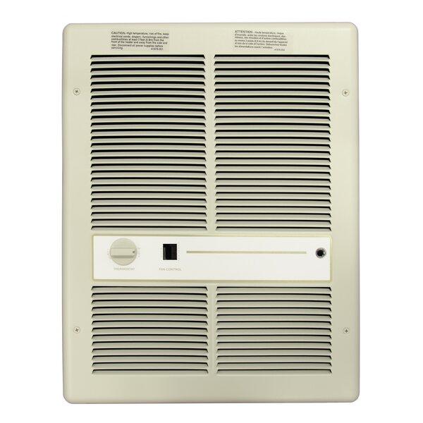 Double Pole 3,413 BTU Wall Insert Electric Fan Heater with Summer Fan Switch by TPI