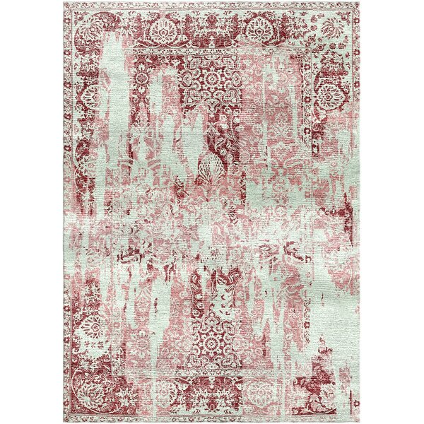 Aliza Handloom Maroon/Pastel Pink Area Rug by Bungalow Rose