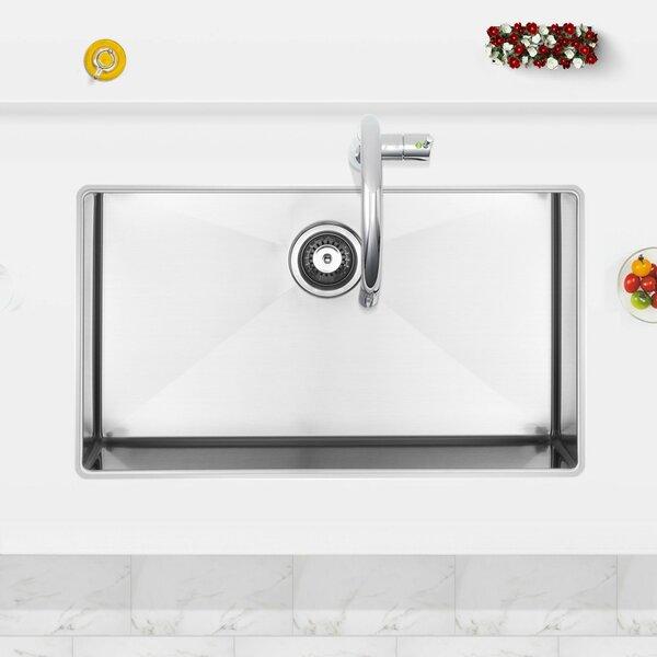 32 L x 19 W Undermount Kitchen Sink with Basket Strainer