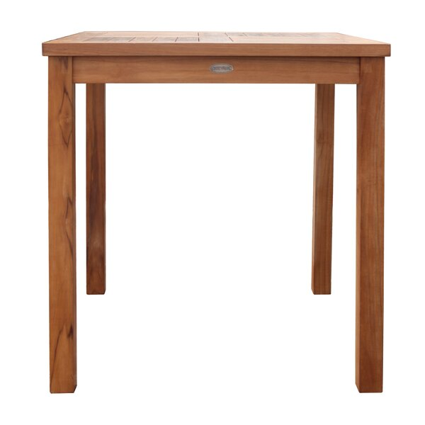 Juno Ridge Teak Bistro Table by Rosecliff Heights