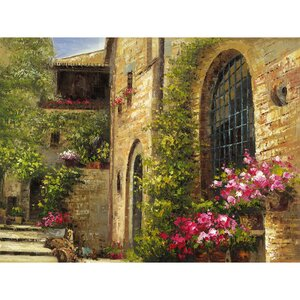 Revealed Artwork Floral Villa Painting on Canvas by Yosemite Home Decor