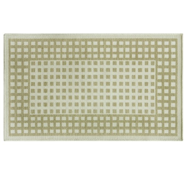 Daley Checks Beige Area Rug by Ebern Designs