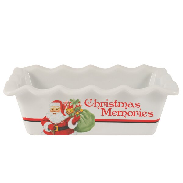 Letters to Santa Mini Loaf Pan by Fitz and Floyd