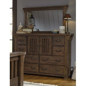 Buckleys 6 Drawer Combo Dresser With Mirror