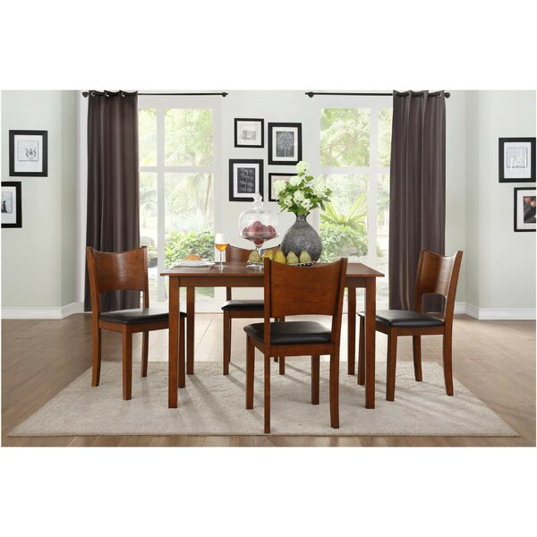 Barbieri Transitional Dinette 5 Piece Solid Wood Dining Set by Winston Porter