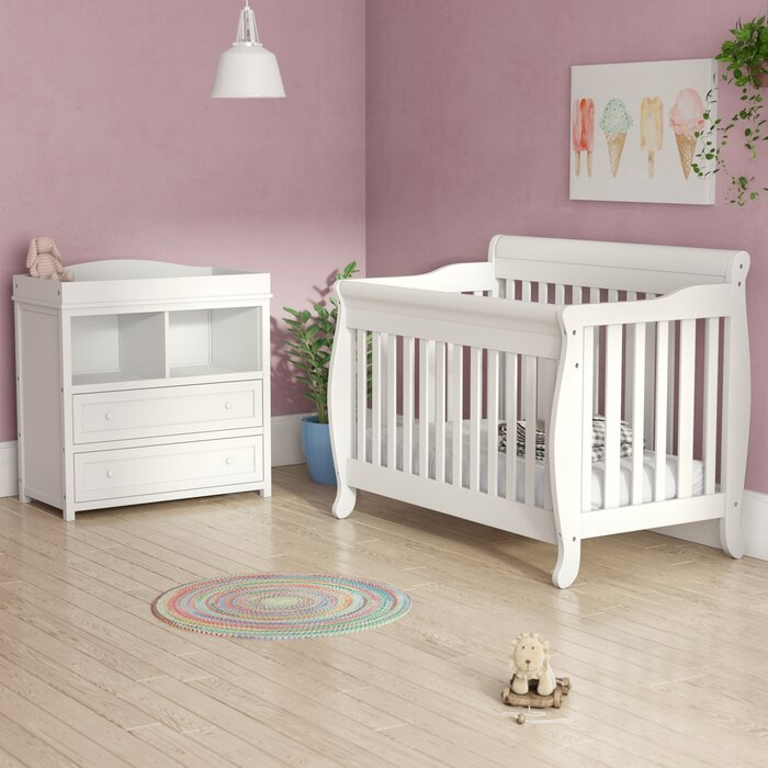 Jaden Convertible 2 Piece Nursery Furniture Set