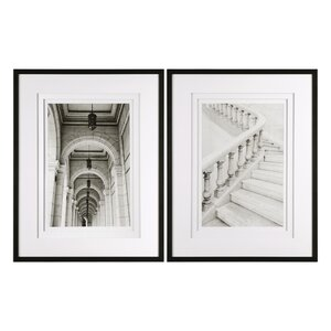 'Moments Architectural' 2 Piece Framed Photographic Print Set by Darby Home Co