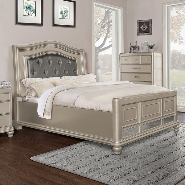 Upholstered Panel Bed by BestMasterFurniture