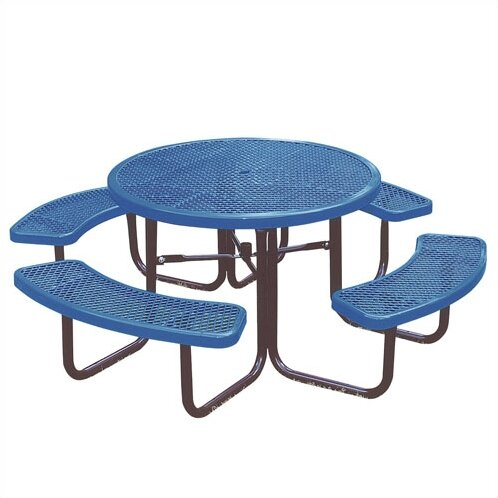 Round Picnic Table with Diamond Pattern by Ultra Play