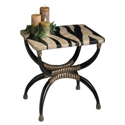 Heritage Zebra End Table