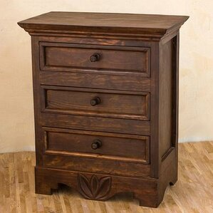 Bureau Lirio 3 Drawer Nightstand by No..
