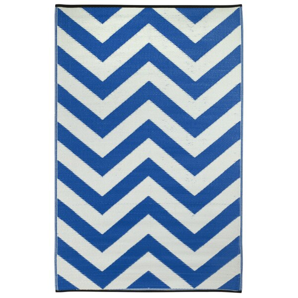 Laguna Hand Woven Blue/White Indoor/Outdoor Area Rug by Fab Habitat