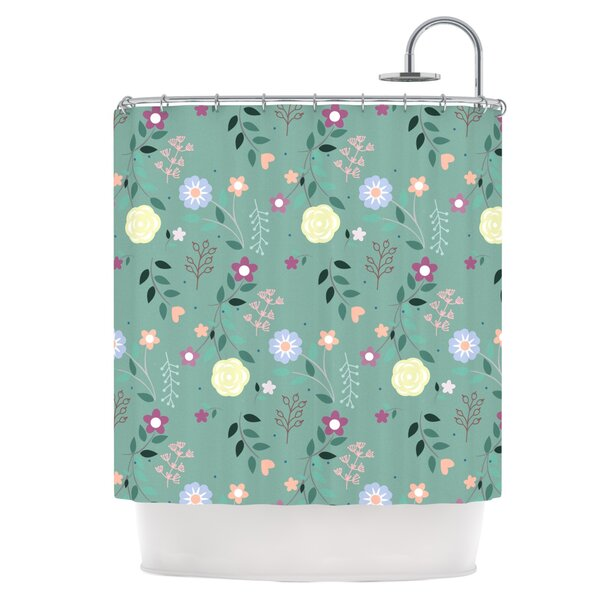 Flora Shower Curtain by East Urban Home