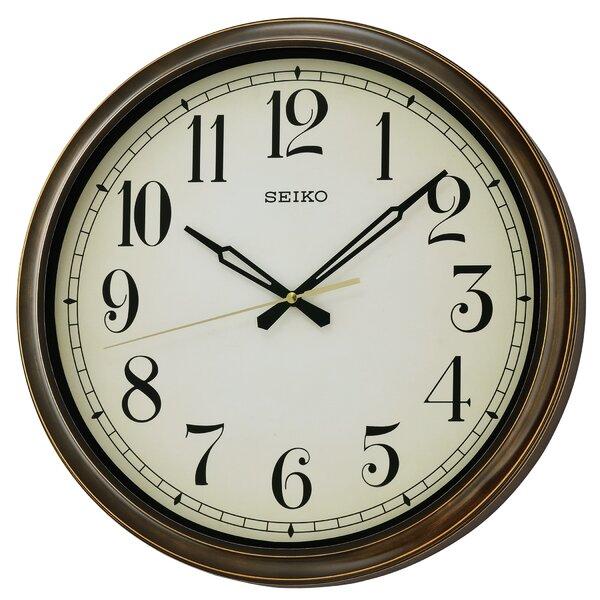 Oversized 16 Weymouth Indoor/Outdoor Splash Resistant Wall Clock by Seiko