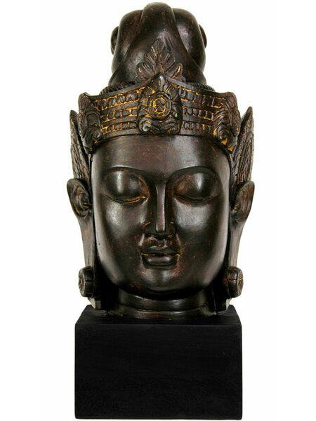 Morgan Large Cambodian Buddha Head Bust by World Menagerie