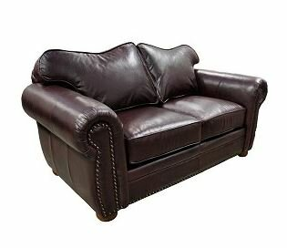 Monte Carlo Leather Loveseat by Omnia Leather Omnia Leather