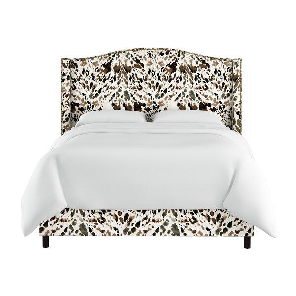 Elisamarie Wingback Linen Upholstered Standard Bed by World Menagerie