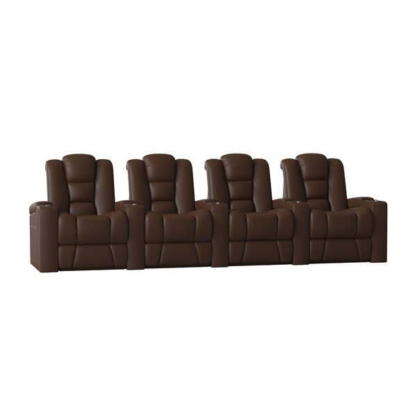 Solid Wood Home Theatre Lounger (Row Of 4) By Latitude Run