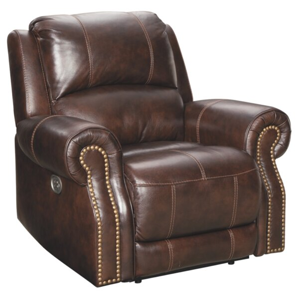 Pitcock Leather Power Recliner By Red Barrel Studio