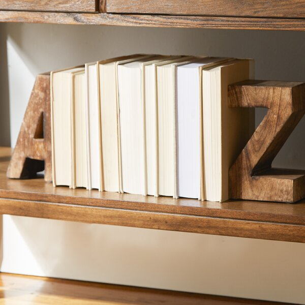 A to Z Bookends by Wrought Studio