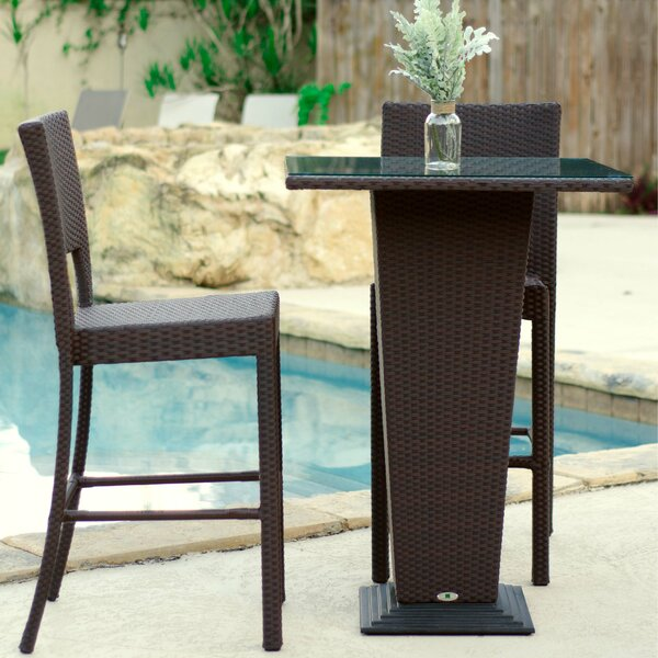 Dickenson 3 Piece Bar Height Dining Set by Darby Home Co