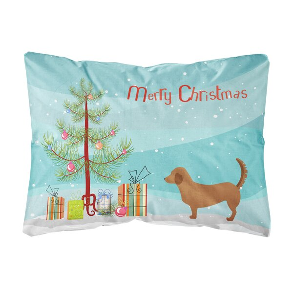 Loyola Alpine Dachsbrake Christmas Indoor/Outdoor Throw Pillow by The Holiday Aisle